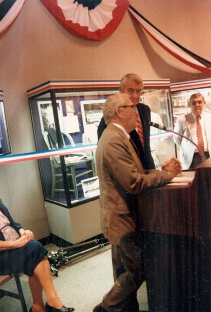 Johnny Sylvester in 1987 at Babe Ruth Birthplace Museum