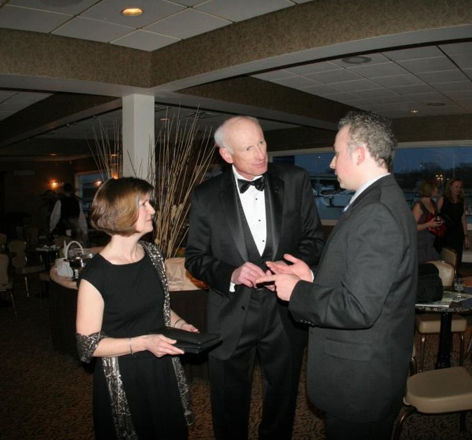 'I'll Knock a Homer for You' Producer/Director Andrew Lilley talking with actor James Rebhorn and his wife.